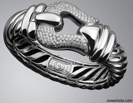 Diamond Cable Buckle Bracelet By Jewelry Designer David