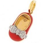 Diamond and Gold Baby Shoe by Aaron Basha