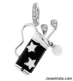 Kids Diamond Golf Pendant by Jewelry Designer Aaron Basha