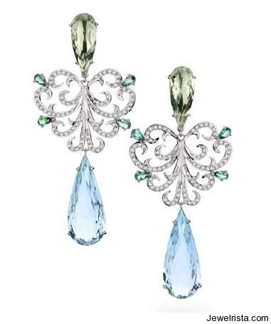 Earrings from the Renaissance Collection by Jewelry Designer Brumani