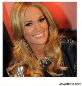 Carrie Underwood Wearing Earrings by Jewelry Designer Carla Amorim