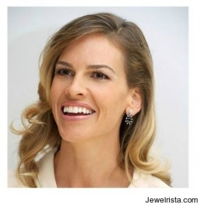 Hillary Swank Wearing Carla Amorim Earrings
