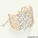 Casato Roma 18kt Ross Gold and Diamond Cuff Bracelet