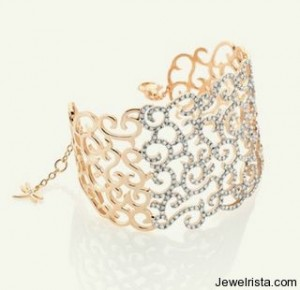 Casato Roma 18kt Ross Gold and Diamond Cuff Bracelet