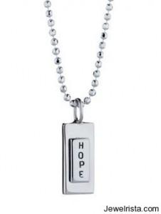 Efva Attling Silver Hope Necklace Charm