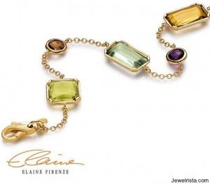 Gold Gemstone Bracelet Kalleido by Designer Elaine Firenze