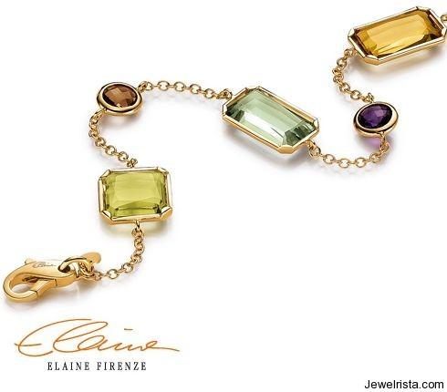 Gold Bracelet Kalleido by Jewelry Designer Elaine Firenze