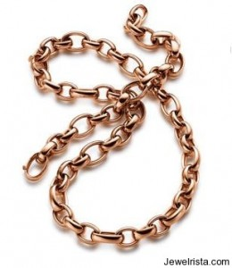 Rose Gold Link Necklace by Elaine Firenze