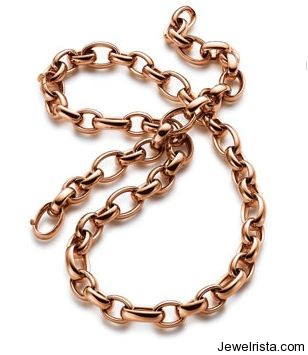 Rose Gold Necklace by Jewelry Designer Elaine Firenze