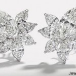 Diamond Flower Earrings by Hans D. Krieger