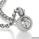 Diamond and Gold Charm and Chain by Jorg Heinz