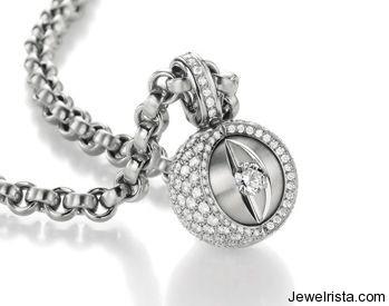 Diamond Pendant and Gold Necklace by Jewelry Designer Jorg Heinz