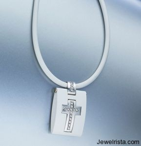 18K White Gold and Diamond Pendant by Jewelry Designer Kria Gioielli
