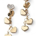 Diamond and Gold Heart Earrings by Jewelry Designer Nanis