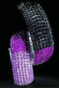 Ruby and Black Diamond Bracelet by Jewelry Designer Paolo Piovan Gioielli