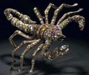 Diamond and Ruby Scorpion Pendant by Paolo Piovan