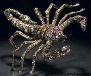 Diamond and Ruby Scorpion Pendant by Paolo Piovan