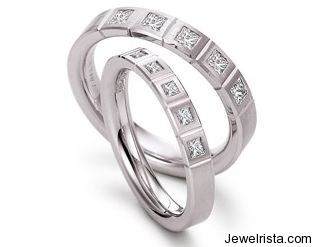 Palladium and Diamond Wedding Band by Jewelry Designer Peter Heim