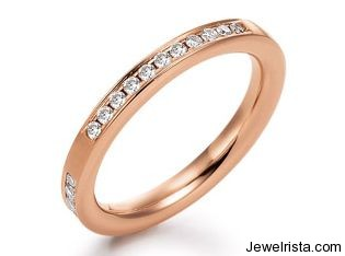 Rose Gold and Diamond Solitaire Ring by Jewelry Designer Peter Heim