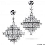Chandelier Earrings in Princess Diamonds by La Reina