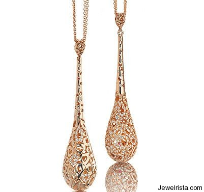 Rose Gold and Diamond Pendants by Jewelry Designer Roberto Coin