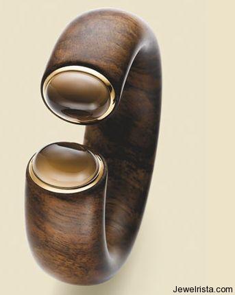 Walnut Bangle by Jewelry Designer Scheffel-Schmuck