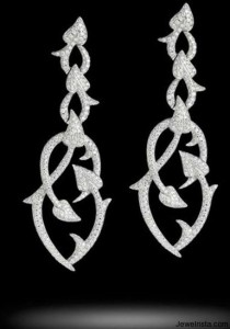 Diamond Poison Ivy Earrings As Seen at the Beverly Hills Stephen Webster Store