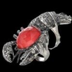 Diamond Lobster Ring by Stephen Webste