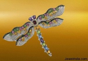 Diamond Butterfly Brooch by Yessayan