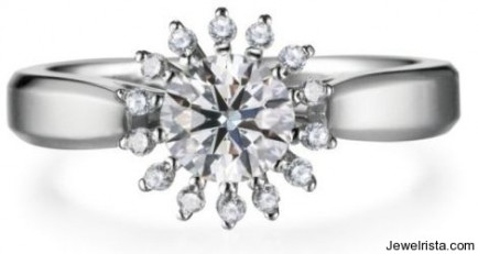 Pronged Diamond Ring By Zela
