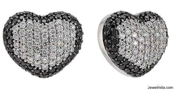 Diamond Heart Earrings by Jewelry Designer Zoccai