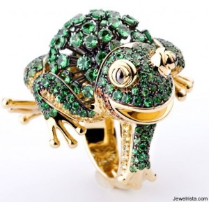 Diamond Frog Ring by Jewelry Designer Cantamessa