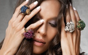 Diamond Frog Rings
