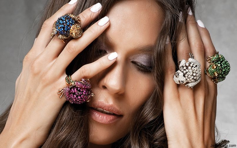 Diamond Frog Rings by Jewelry Designer Cantamessa