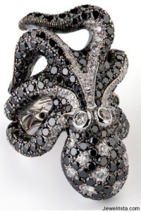 Cantamessa Diamond Octopus Ring