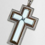 Catherine Best Blue Topaz (November's Birthstone) Cross Pendant