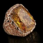 Gold Gemstone Ring by Giovanni Ferraris