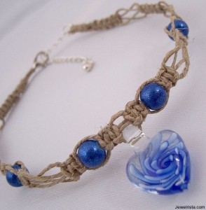 All Natural Environmentally Friendly Hemp and Glass Jewelry