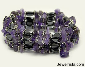 Magnetic Jewelry with Stones by L Michaels