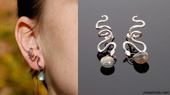Snake Earrings by Orbora
