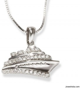 Diamond Cruise Ship Charm