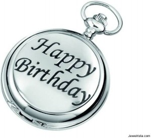Happy Birthday Jewelry Pocket Watch