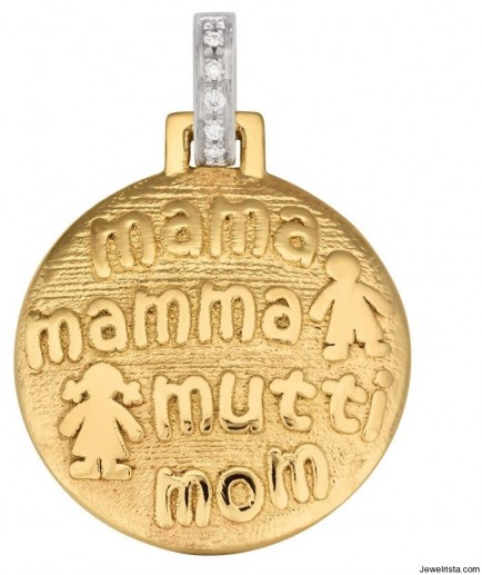 Mother's Day Jewelry Gold Charm
