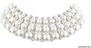 Pearl and Diamond Choker Necklace