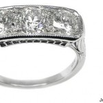 Platinum Vintage Diamond Anniverary Ring