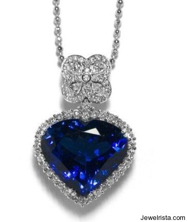 Valentine's Day Diamond Heart Necklace