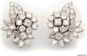 Vintage Cartier Diamond Earrings