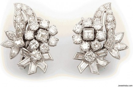 Vintage Cartier Diamond Earrings