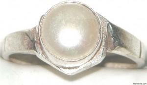 Vintage Real Pearl Ring