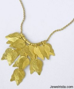 22 Karat Leafwork Jewelry Collection By Anat Gelbard